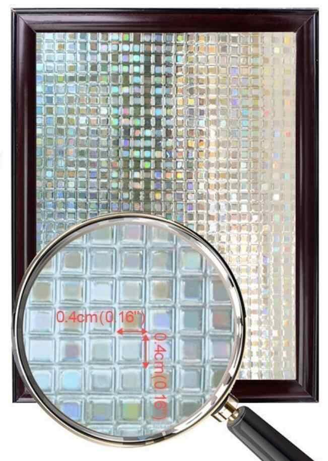 Lucky yyj-Film décoratif 3D pour fenêtre autocollant de confidentialité en vinyle, sans colle