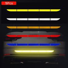 5 шт./компл. Светоотражающая наклейка для автомобиля багажник Авто Предупреждение полосы нано лента для вождения анти-столкновения автомобиля-Стайлинг с люминесцентным элементом для мер безопасности ленты