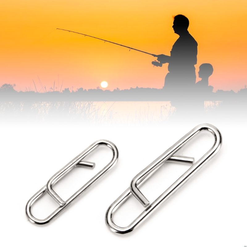 100 Pcs/pack Powerful Fast Link Snap Pin Fishing Tackle Quick Change Leads Clips