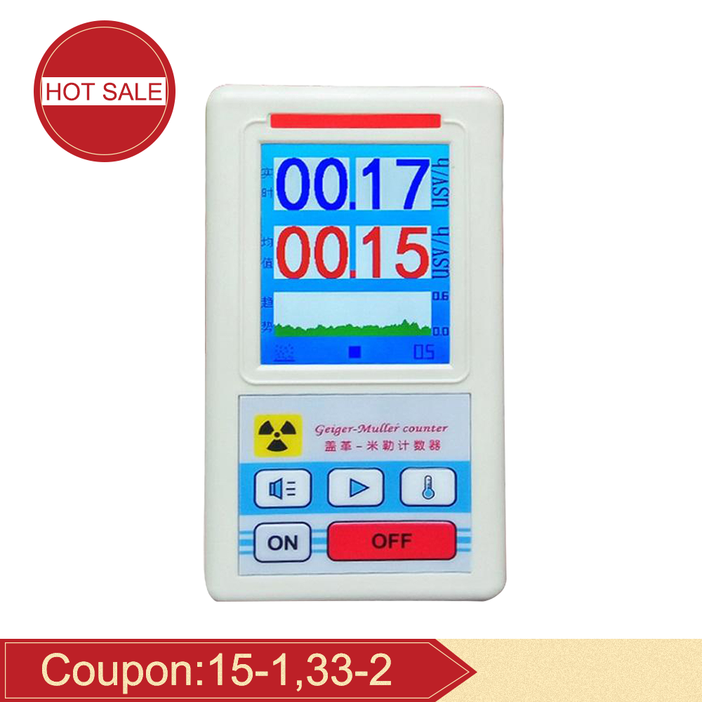 Big Discount Geiger Counter Display Color Screen Nuclear Radiation Detector Personal Dosimeter X-ray Beta Gamma Detector