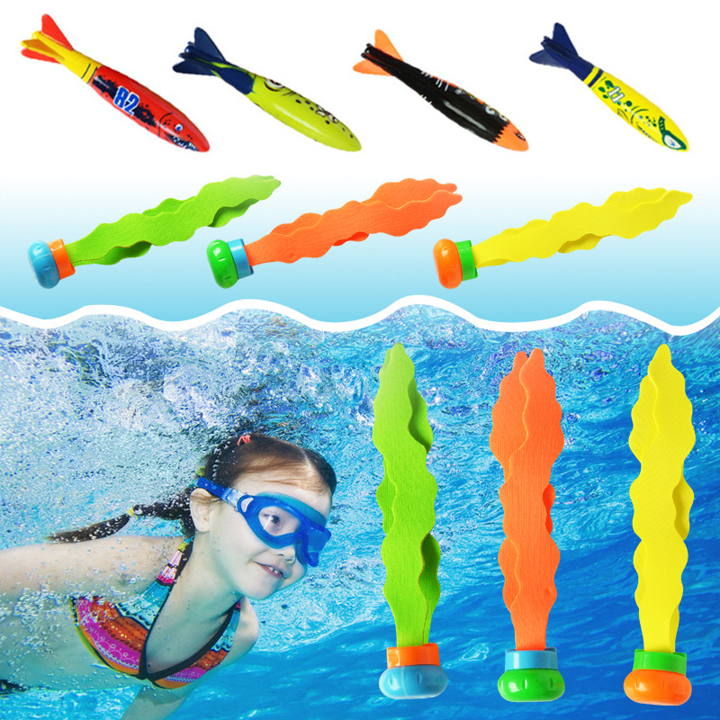 New Summer Shark Torpedo Rocket Throwing Toy Funny Swimming Pool Diving Game Toys For Children Dive Accessories Toy