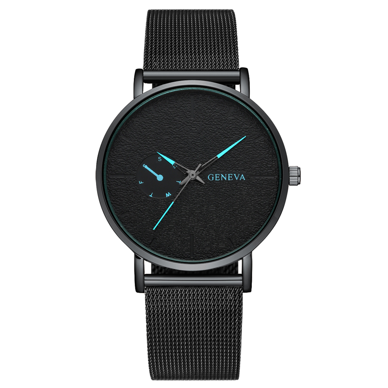 Casual Watches Mesh-Band Quartz Stainless-Steel Sport Montre Homme Men's New