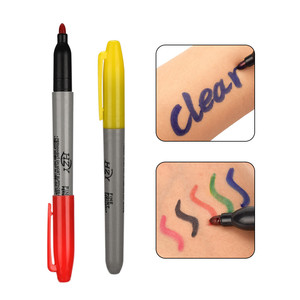 Image 5 - 6/12pcs Tattoo Pen Waterproof Tattoo Skin Plastic Colorful Erasable Marker Pen For Tattoo Supplies Makeup Tattoo Accessories