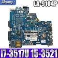 AKEMY LA 9104P original mainboard für Dell Inspiron 15 3521 5521 mit I7 3517U Laptop motherboard-in Motherboards aus Computer und Büro bei