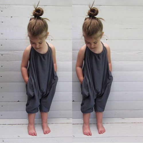 Pudcoco 2020 Fashion Kids Baby Girls Strap Cotton Romper Jumpsuit Harem Trousers Summer Kids Clothes Siold Childen Clothing 2-8Y