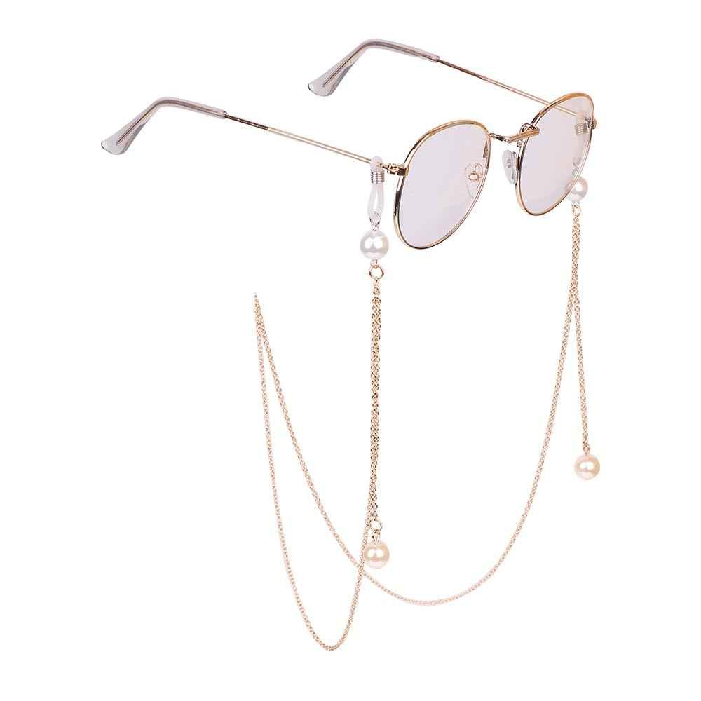 1 adet 2019 moda şık bayan altın gümüş güneş gözlüğü zincirleri okuma boncuklu gözlük zinciri gözlük kordon kordon kolye