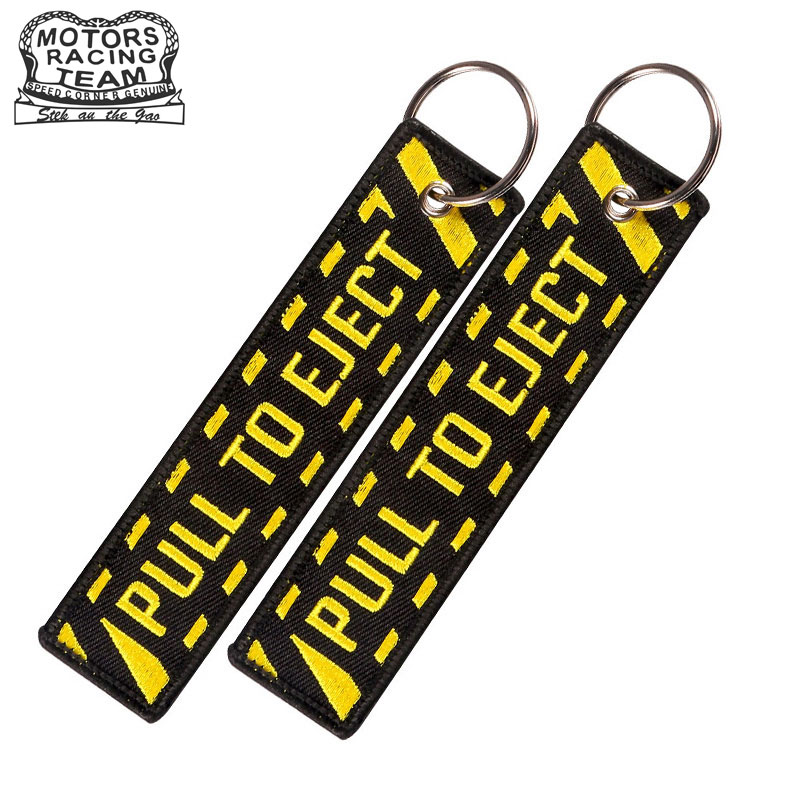 Travel Accessories Luggage Tags Embroidery Pull To Eject Tag With Key Ring Key Holder Portable Label For Aviation Lovers 1PC