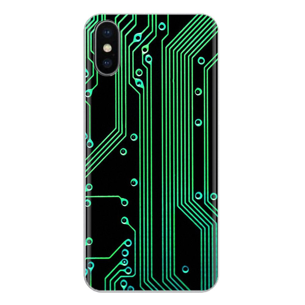 Technology Circuit board <font><b>Motherboard</b></font> Silicone Phone Cover Bag For <font><b>Huawei</b></font> Mate <font><b>Honor</b></font> 4C 5C 5X 6X <font><b>7</b></font> 7A 7C 8 9 10 8C 8X 20 Lite Pro image