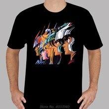 Novo saint seiya * pegasus phoenix retro dos desenhos animados camiseta preta masculina venda quente nova camisa de algodão masculina t harajuku