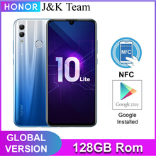 Honor 10 Lite 128GB Global Version SmartPhone NFC 24mp Camera Mobile Phone 6.21 inch 2340*1080 pix Display Fingerprint