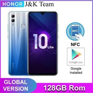 Image 1 - Honor 10 Lite 128GB Global Version SmartPhone NFC 24mp Camera Mobile Phone 6.21 inch 2340*1080 pix Display Fingerprint