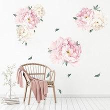 Wall Sticker Peony Flower Creative Decals Bedroom Home Decoration Kids Room Decor