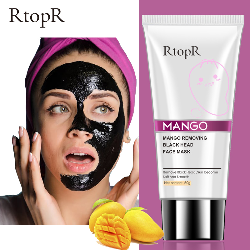 Mango Blackhead Remover Oil-Control Shrink Pore Acne Treatment Moisturizing Black Face Mask Deep Cleansing Exfoliating Skin Care