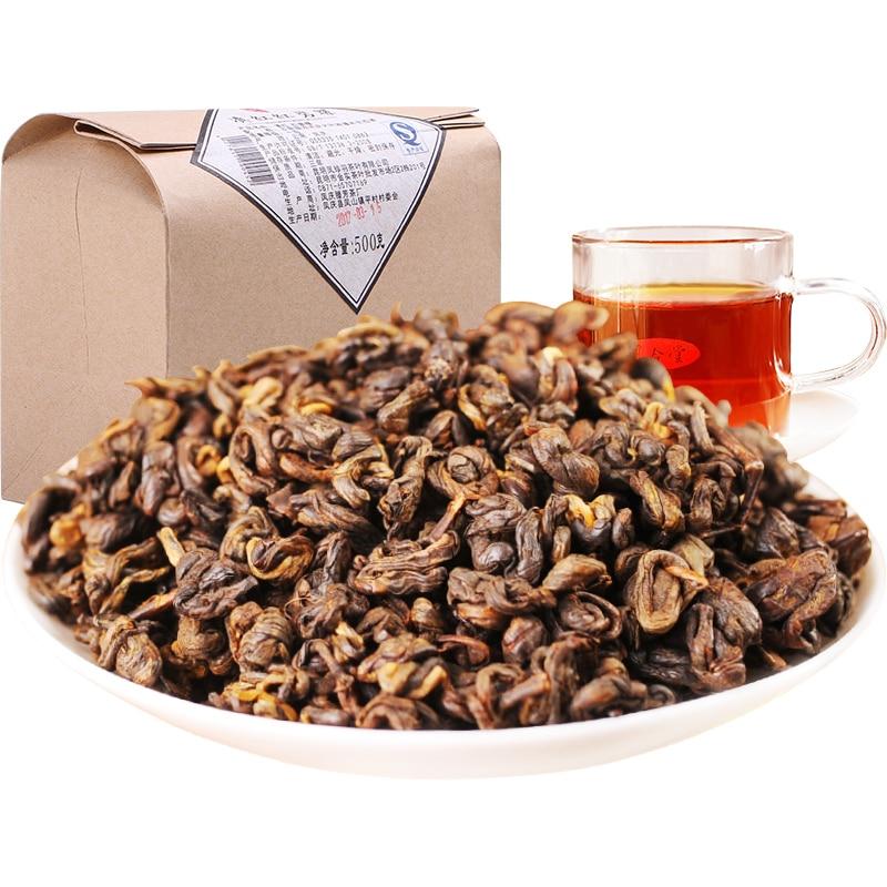 500g 2019 Yr Yunnan Dianhong Dian Hong Black Tea Chinese Kung Fu Tea Red Natural Lose Weight Sweet Honey For Milk Tea