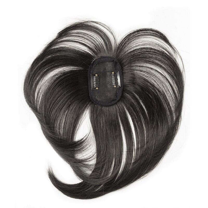 Черный/светильник, коричневые накладные волосы на заколках для женщин, синтетические высокотемпературные волокна для наращивания волос