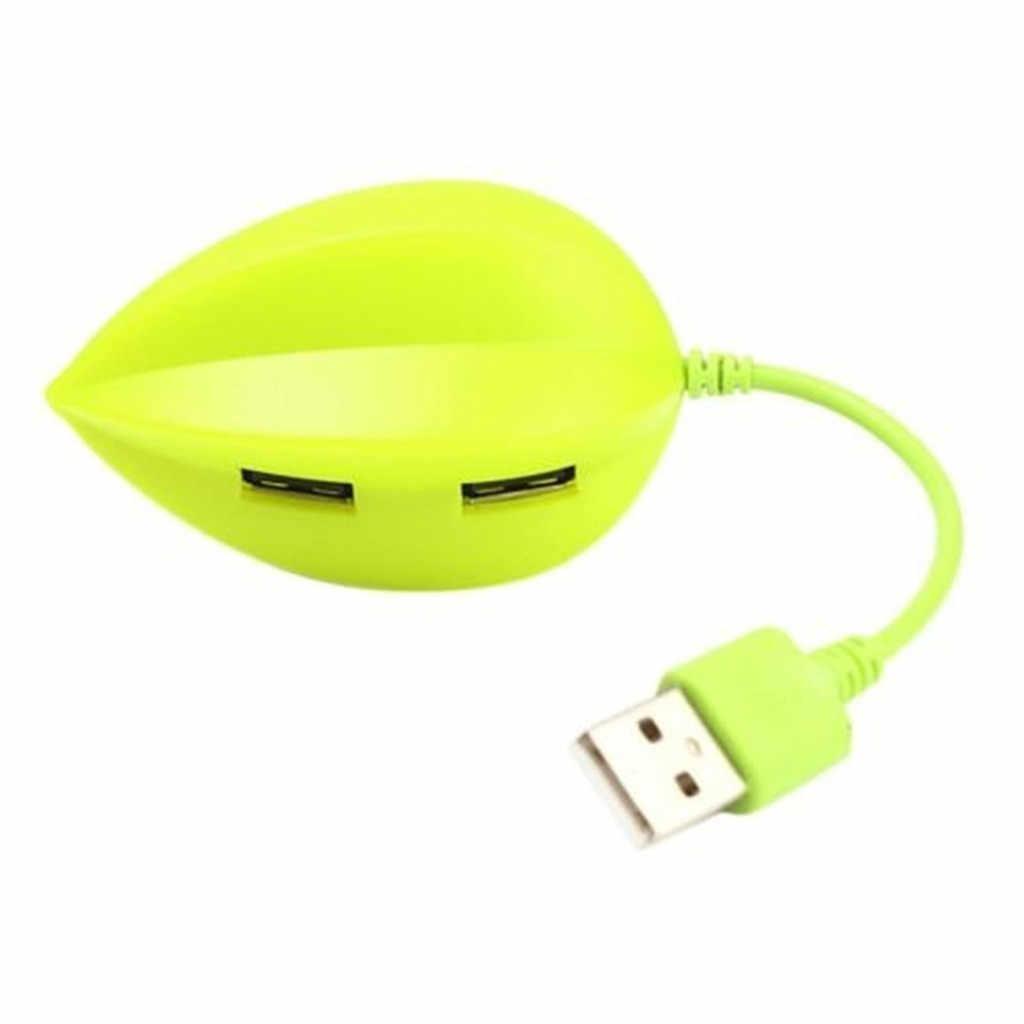 USB SwitcherBeautiful สตรอเบอร์รี่ Star Shape USB 2.0 4-Port Creative Hub 480Mbps Adaptet แท็บเล็ต pc USB hubs-L909