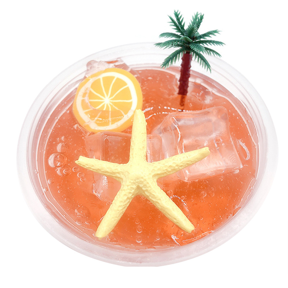 Squishy New Crystal Puree Coconut Puree Starfish Lemon Plasticine Poke Cloud Slime Puttys Scented Stress Kids Clay Toy L108