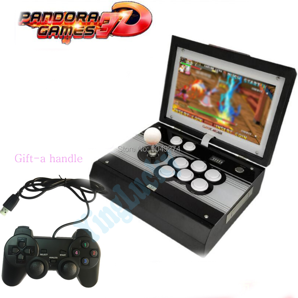 Pandora 3D WiFi Arcade Box 2448 In 1 Zero Delay Saving Function Joystick Controller PCB 134 PCs 3D Retro Portable Console  Game