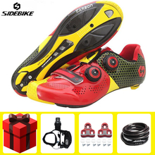 Sidebike Cycling Shoes Road Sapatilha Ciclismo add pedal set Carbon fiber men sneakers Self-Locking Bicycle Bike Shoes Sneakers sidebike cycling shoes road men carbon sapatilha ciclismo mtb bike shoes zapatos bicicleta sneakers self locking white 2019 new