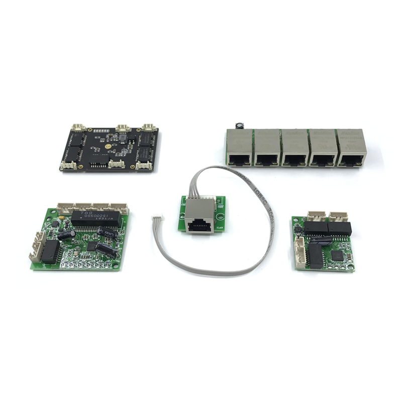 Unmanaged 5port 10/100M Industrial Ethernet Switch Module  PCBA Board OEM Auto-sensing Ports PCBA Board OEM Motherboard