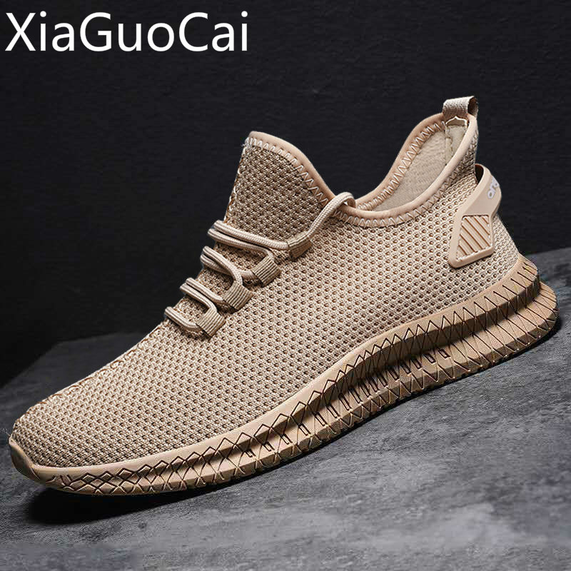 Summer/autumn Breathable Mesh Mens Casual Shoes Openwork Mens Casual Sneakers Mesh Breathable Male Flat Casual Shoes