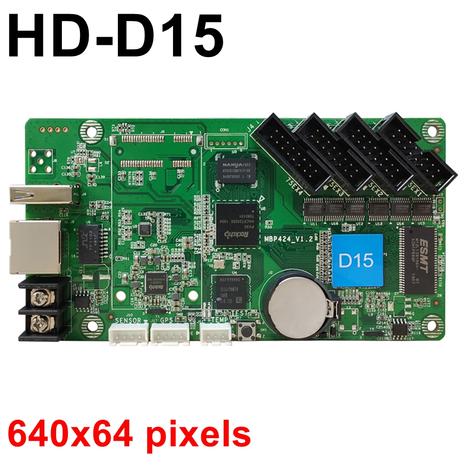 HD D15 asynchronous USB full color led control card video rgb U disk LED controller 640