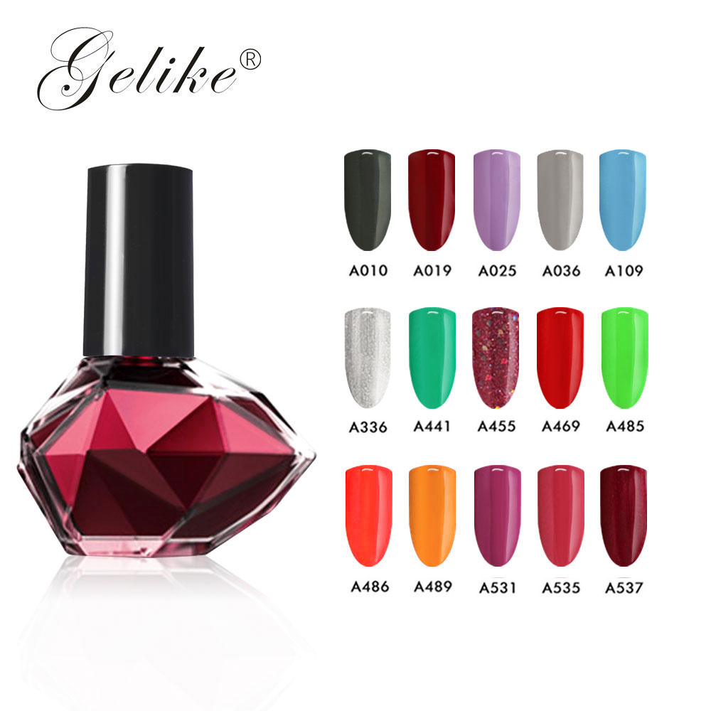 Gelike 10ml Color Gel Polish UV Nail Gel Polish Water Base Peel Off Nail Polish For Nail Art UV LED Gel Nail Polish in Nail Polish from Beauty Health