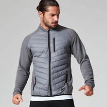 Men Sport Jacket Winter Fleece Zip Up Coat Zipper Pocket Sweatshirt male Casual Jogger Running Workout Fitness Jacket Sportswear недорого