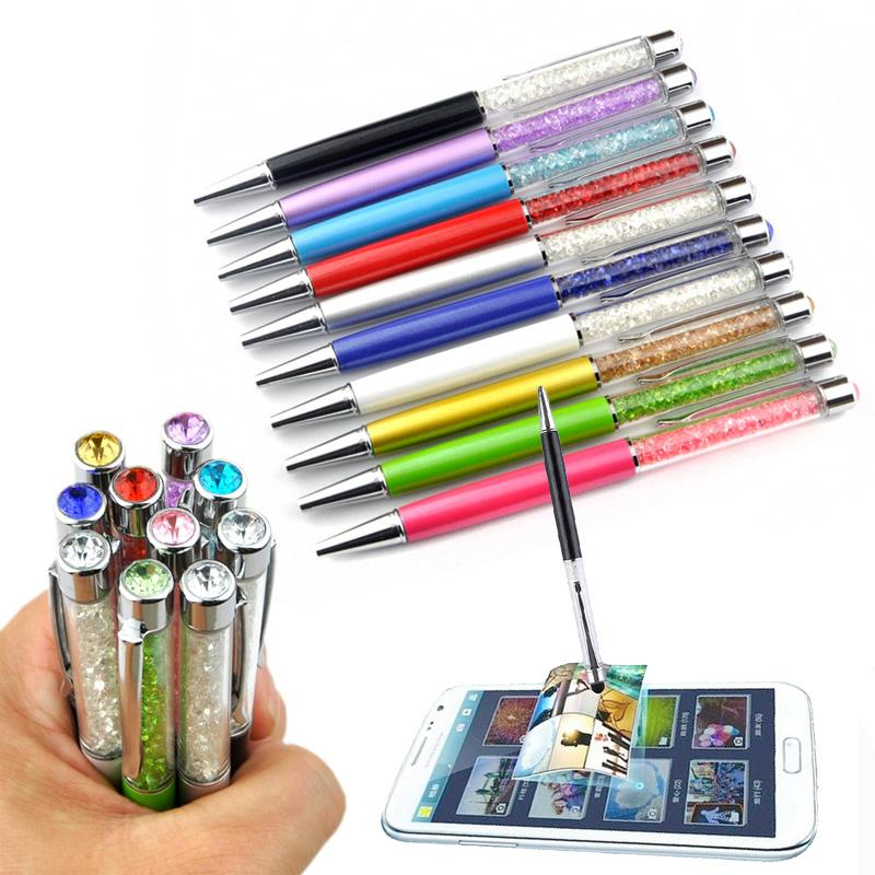 Touch Screen Pen Ballpoint Capacitive Crystal Ballpoint Smartphone Accessories Metal Write School Office Supply