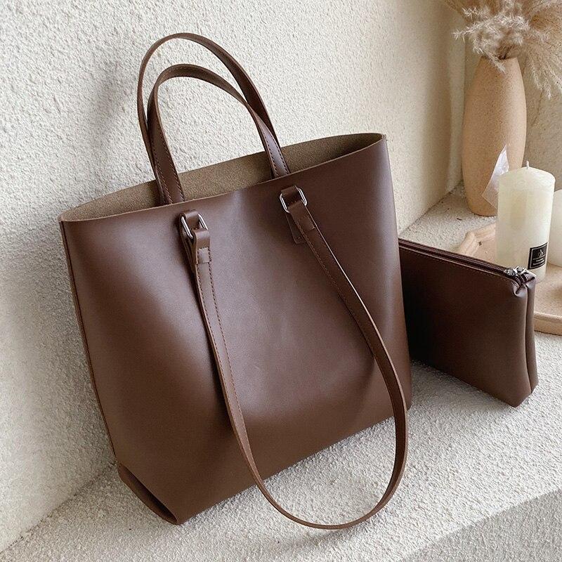 Вместительные Сумки из искусственной кожи шопперы для женщин 2020, композитная сумка, женские дорожные сумки через плечо, женские сумки мессенджер|Сумки с ручками|   | АлиЭкспресс
