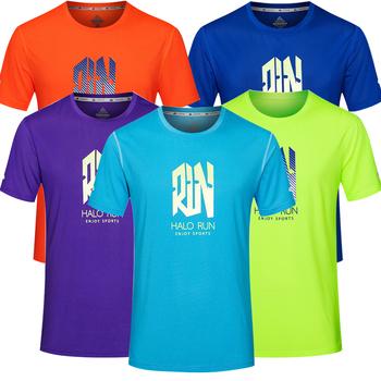 Męskie sportowe koszulki polo szybkie suche koszulki bieganie Slim dopasowane koszulki koszulki sportowe męskie Fitness siłownia koszulki tenisowe koszulki Polo tanie i dobre opinie JUNJIAN CN (pochodzenie) Wiosna summer Poliester Pasuje prawda na wymiar weź swój normalny rozmiar training basketball running active yoga
