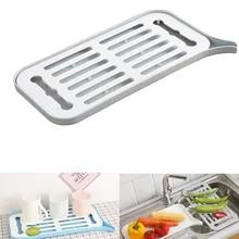 Drain Rack Plastic Dish Drainer Dryer Tray Large Sink Drying Rack Worktop Kitchen Organizer Drying Rack Kitchen Rack