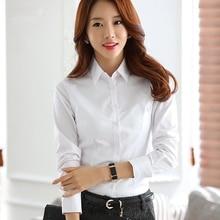 Women Cotton Shirts White Shirt Women Long Sleeve Shirts Tops Office Lady Basic Shirt Blouses Plus Size Elegant Woman Blouse 5XL