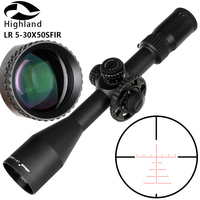 LR 5 30x50 SFIR Glass Etched Reticle Red Illumination Side Parallax Turrets Lock Reset Tactical Hunting Scope Riflescope