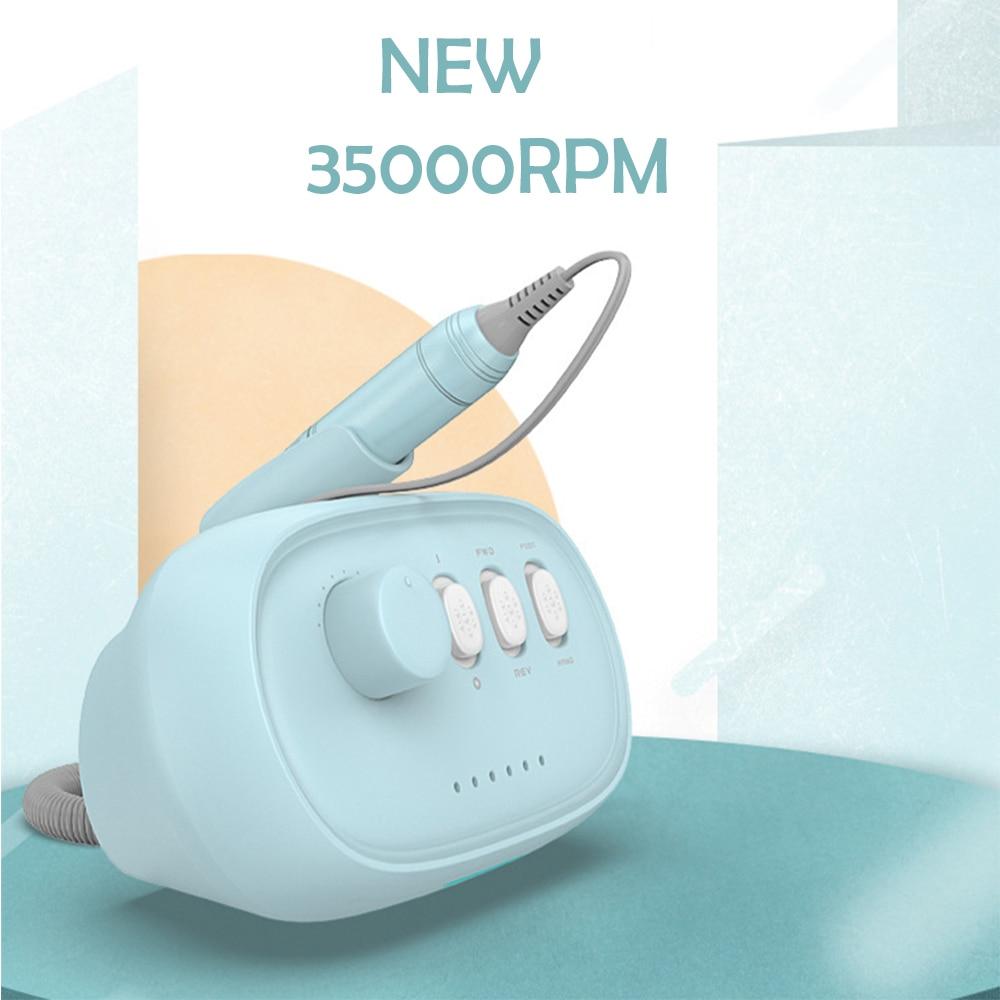 2020 nova maquina de manicure 35000 prm profissional broca do prego fresadora colorido arquivo prego eletrico