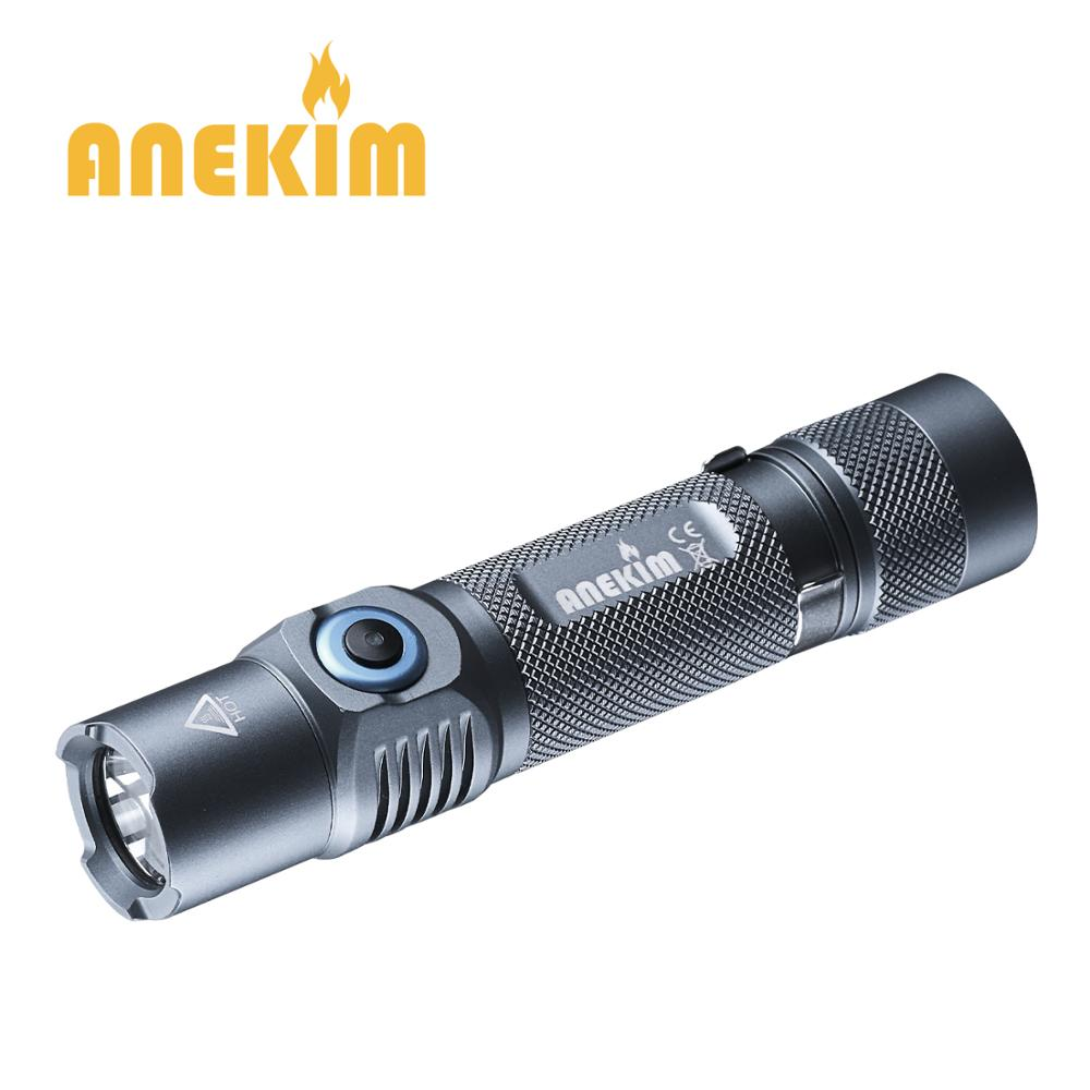 ANEKIM VC30 P9 Tactical 1050lm LED Flashlight with Power indicator ATR USB charging Tail Magnetic 18650 EDC Flashlight in LED Flashlights from Lights Lighting