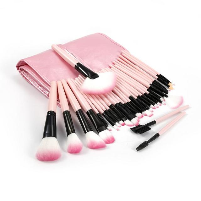 32 Pcs/lot Makeup Brushes Set For Foundation Powder Blush Eyeshadow Concealer Lip Eye Make Up Brush Pink Cosmetics Tools TSLM1 1