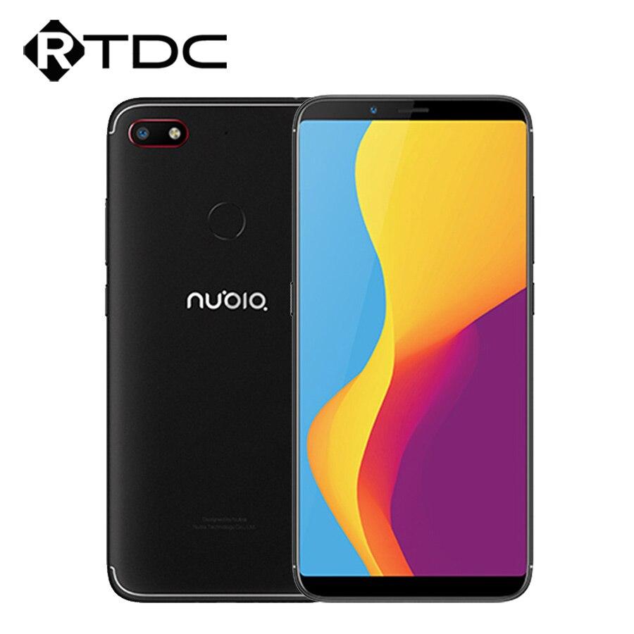 "Global EU Version ZTE Nubia V18 UI 5.1 Mobile Phone 4GB+64GB 6.01""Snapdragon 625 Octa Core 18:9Full Screen Face ID 4000mAh 13MP"