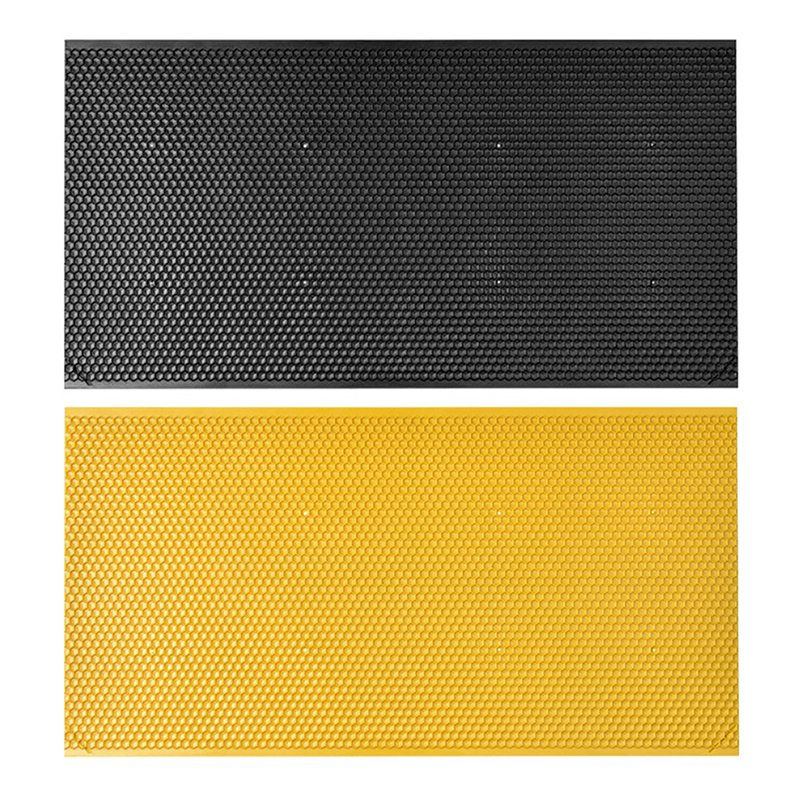 Bees Comb Honey Frame Plastic Honeycomb Bee Wax Foundation Beehive Frames Base Sheets Black And Yellow