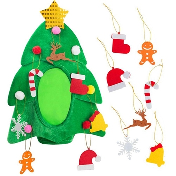 New Christmas Tree Hat , Funny Christmas Hat, Novelty Santa Hat Holiday Theme Hat