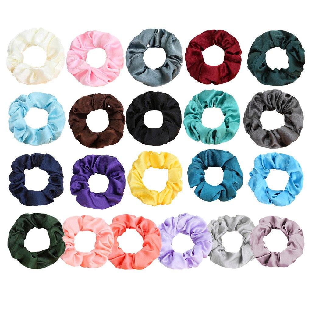 Fashion Chiffon Hair Scrunchies Solid Color Sports Elastic Dance Headband Rope Women Hair Band Ring Scrunchie Headband