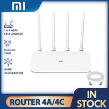 Xiaomi routeur 4A 4C MI Gigabit édition 2.4GHz 16 mo ROM 128 mo DDR3 haut Gain 4 antenne APP contrôle IPv6 WiFi Xiaomi routeur