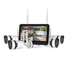 Video surveillance home video wireless monitoring set camera 4 channel NVR 12.5 inch display monitoring 1080P surveillance set