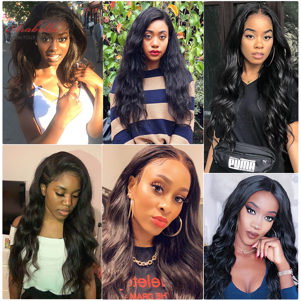 13x4 Lace Front  Wigs ARABELLA Hair 200% Density  Hair Pre Plucked  Body Wave Lace Front Wig Glueless 5