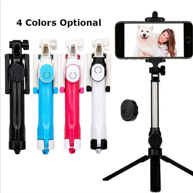 <font><b>3</b></font> in 1 Bluetooth Selfie Stick Tripod Extendable Monopod For iPhone XR X <font><b>7</b></font> 6s Plus For Samsung For Huawei Universal Tripod image