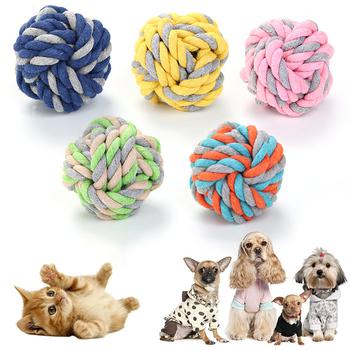 Zabawki dla psa na Halloween bawełna piłka sznurowa zabawki dla psów artykuły świąteczne dla psów akcesoria dla psów ugryzienie zabawki dla psa wypchane zabawki dla psów tanie i dobre opinie CN (pochodzenie) Polar Piłki cotton rope ball bite toy 51 79 108g