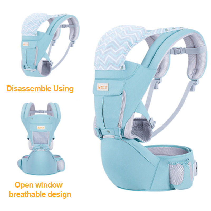 Multifunction Outdoor Kangaroo Baby Carrier With Windproof Cap 0-36 Months Portable Infant Hipseat Adjustable Baby Wrap Sling