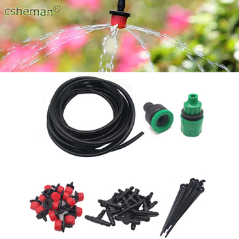 Garden Automatic Watering DIY Micro Drip Irrigation System Garden Watering Kits Garden Hose with Adjustable Drippers 5M - 40M image