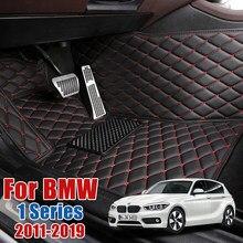 Tapis de sol de voiture en cuir pour BMW 1 série F20 116i 118i 116d 118d 120d 125i 125d 114i M135i M140i couverture de tapis de protection de pied automatique personnalisée