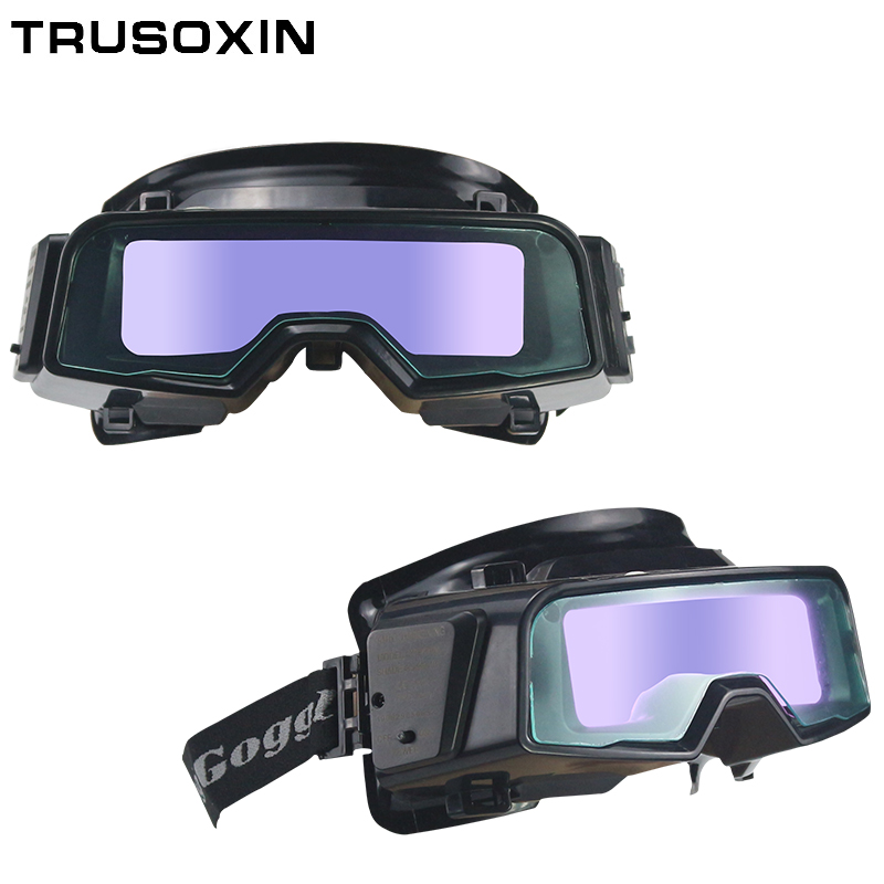 Outside Control Solar Auto Darkening Welding Glasses Welder Mask Welding Helmet With Shade Eara Din9-Din13